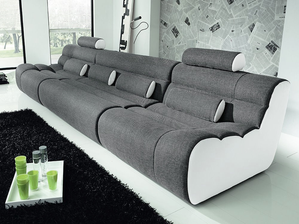new look m bel elements sofa grau wei m bel letz ihr online shop. Black Bedroom Furniture Sets. Home Design Ideas