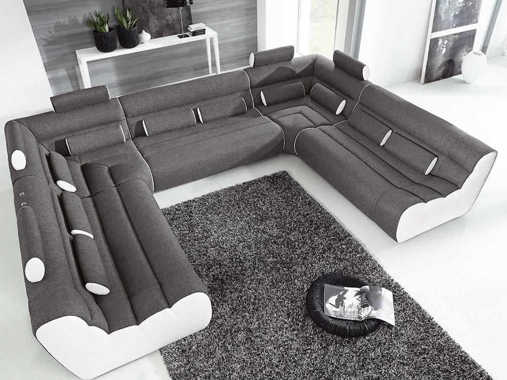 new look m bel sofa elements anthrazit wei m bel letz ihr m bel online shop. Black Bedroom Furniture Sets. Home Design Ideas