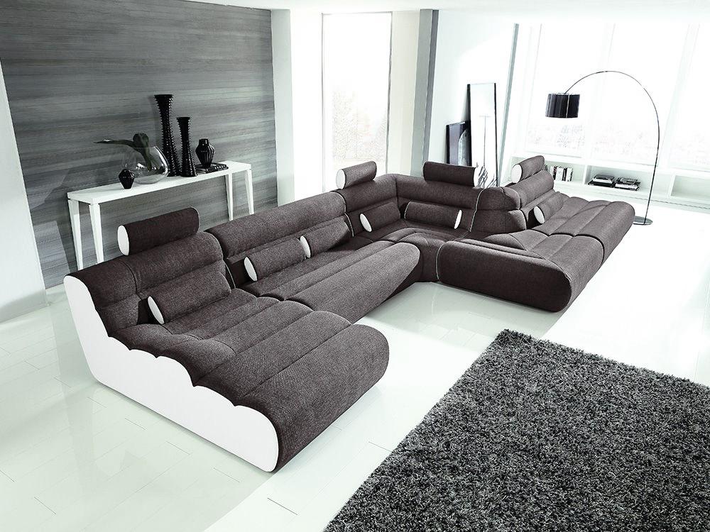 new look m bel elements u sofa schwarz wei m bel letz ihr m bel online shop. Black Bedroom Furniture Sets. Home Design Ideas
