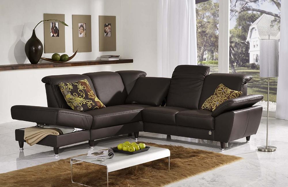 f s polsterm bel 2070 domino ledersofa braun m bel letz ihr online shop. Black Bedroom Furniture Sets. Home Design Ideas