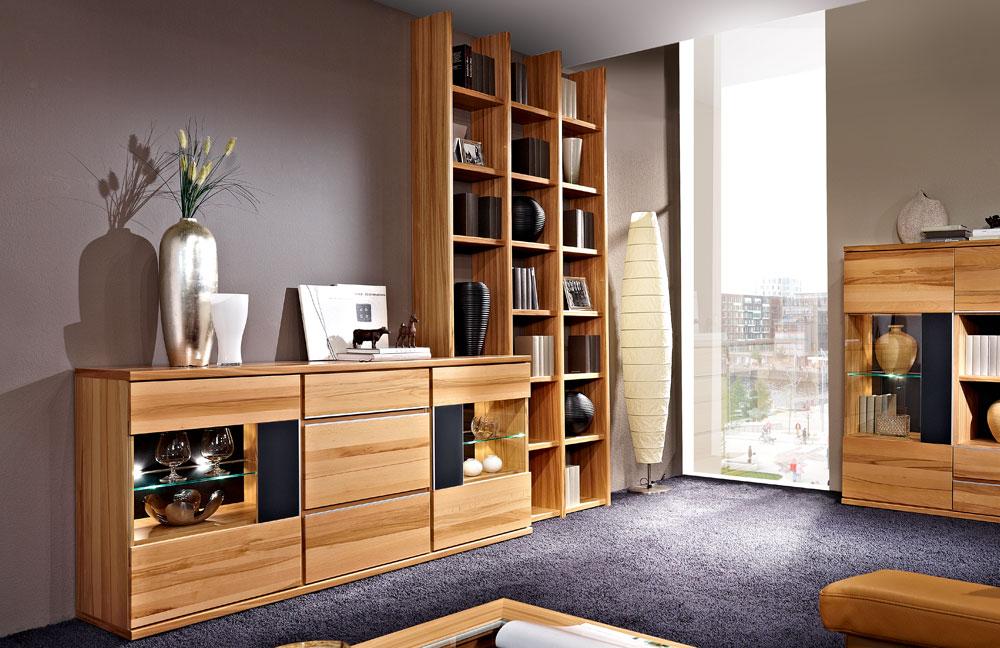 wohnwand living v12 kernbuche von schr der wohnm bel m bel letz ihr online shop. Black Bedroom Furniture Sets. Home Design Ideas
