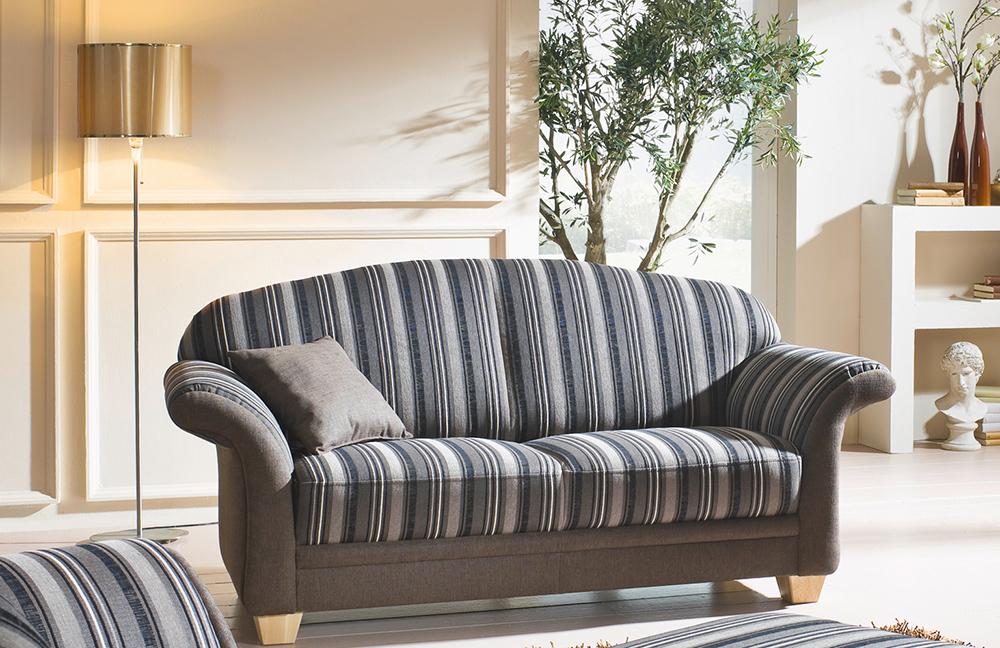 ponsel wallis sofagruppe blau gestreift m bel letz ihr online shop. Black Bedroom Furniture Sets. Home Design Ideas