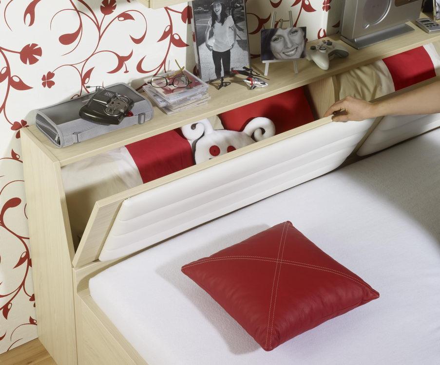 rudolf max i jugendzimmer ahorn rot m bel letz ihr. Black Bedroom Furniture Sets. Home Design Ideas