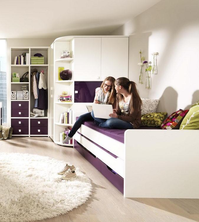 jugendzimmer unlimited von wellem bel wei lila m bel. Black Bedroom Furniture Sets. Home Design Ideas