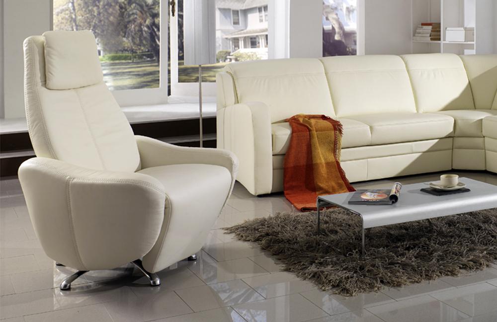 pm oelsa amica echtledergarnitur in wei m bel letz ihr online shop. Black Bedroom Furniture Sets. Home Design Ideas