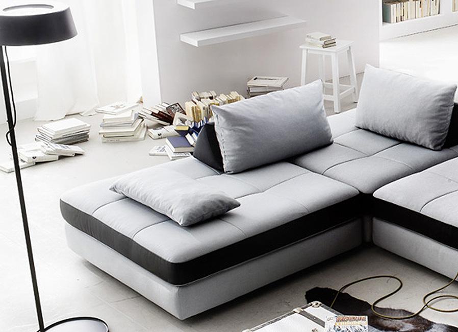new look freestyle ecksofa grau schwarz m bel letz ihr online shop. Black Bedroom Furniture Sets. Home Design Ideas