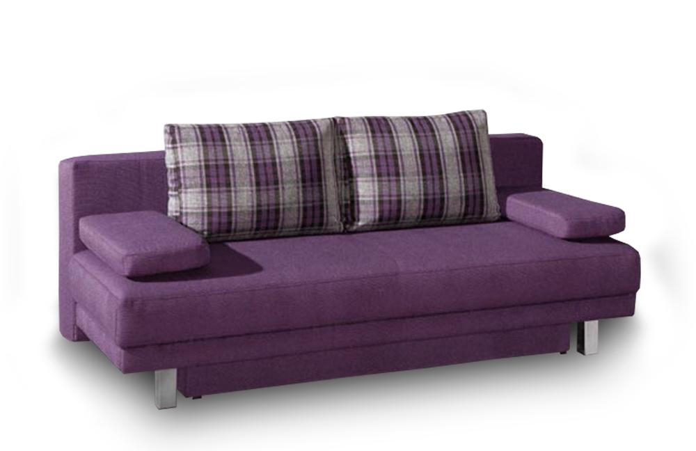 Schlafsofa Querschläfer restyl megan schlafsofa im trendigen violett inklusive bettkasten l möbel letz ihr shop