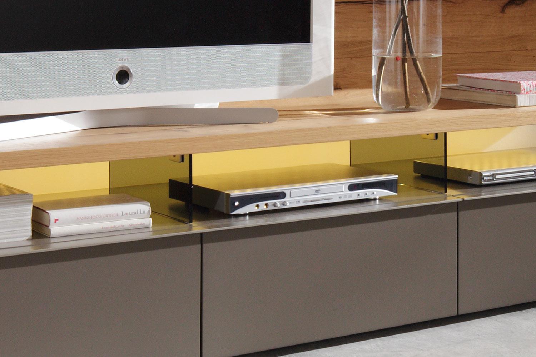 gwinner wohndesign wohnwand felino fe1 taupe balkeneiche honig m bel letz ihr online shop. Black Bedroom Furniture Sets. Home Design Ideas