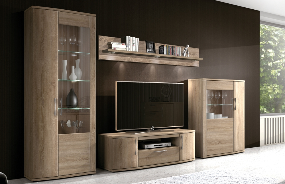 wohnwand l num a305 von stralsunder m bel letz ihr online shop. Black Bedroom Furniture Sets. Home Design Ideas