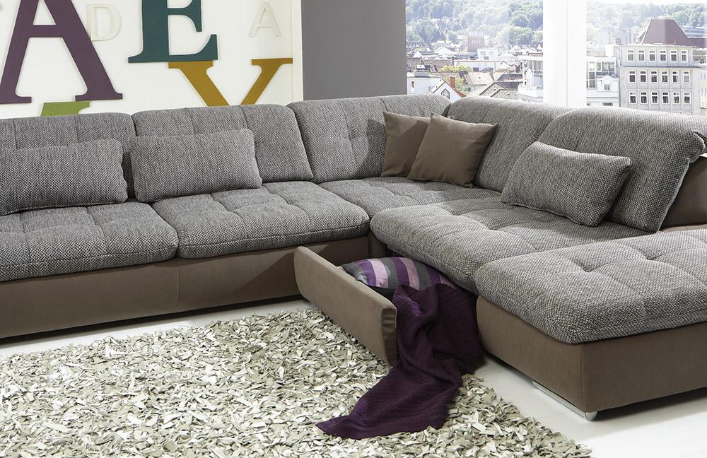 megapol dreamer diego desire ecksofa braun m bel. Black Bedroom Furniture Sets. Home Design Ideas