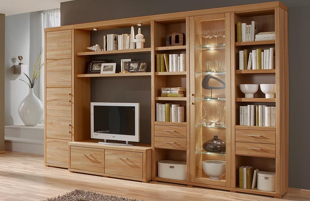 wohnwand oslo ii 85 kernbuche von ideal m bel m bel letz. Black Bedroom Furniture Sets. Home Design Ideas