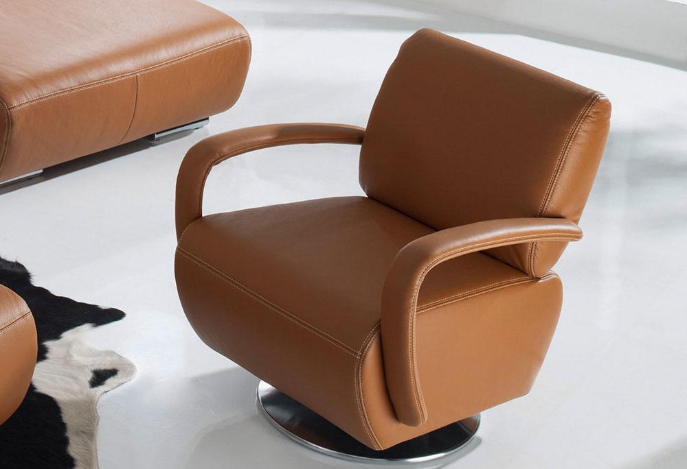 k w polsterm bel miami ledersofa braun m bel letz ihr online shop. Black Bedroom Furniture Sets. Home Design Ideas