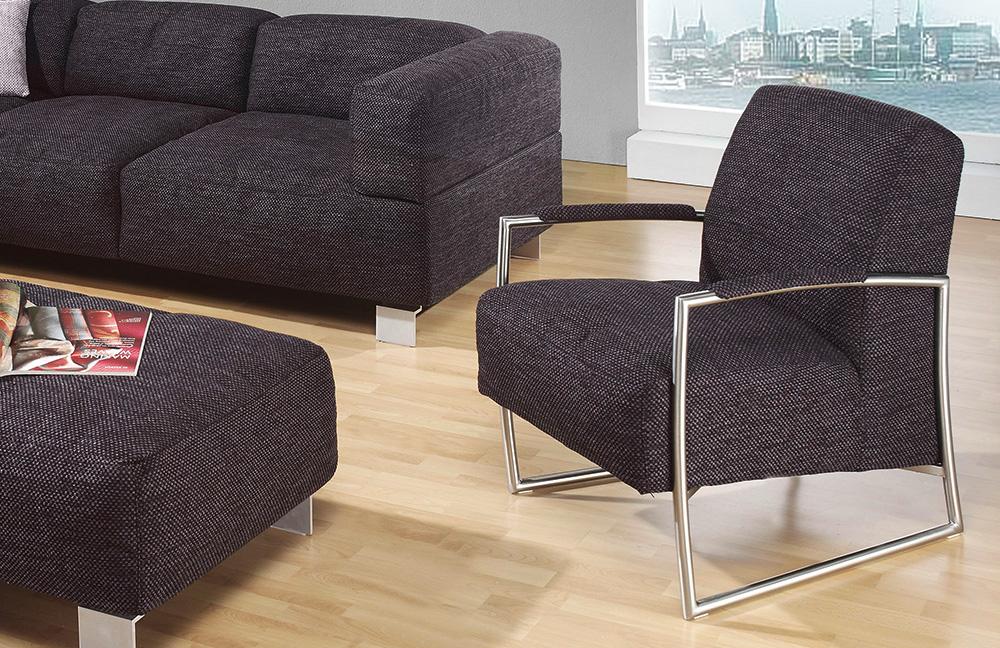 k w polsterm bel loft eckcouch anthrazit m bel letz ihr online shop. Black Bedroom Furniture Sets. Home Design Ideas