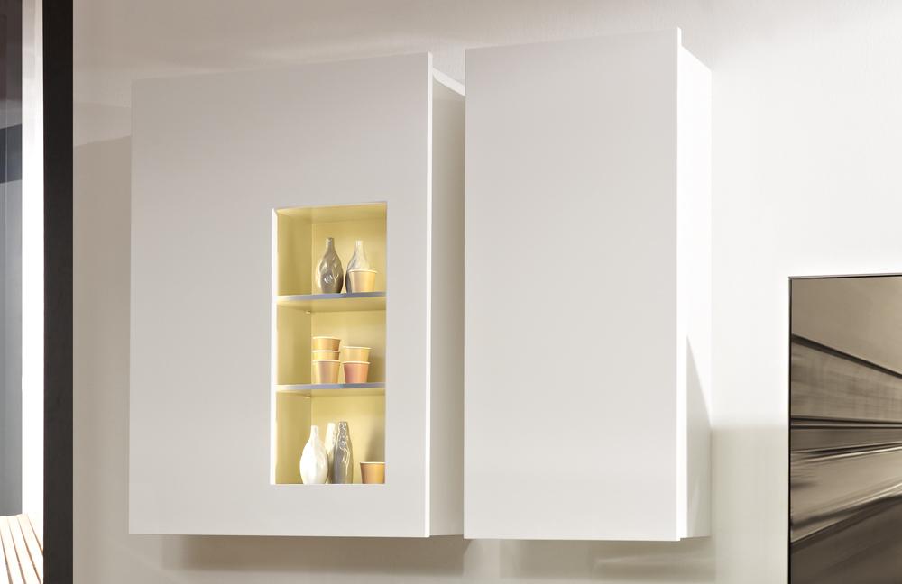 wohnwand media 3000 lack bianco wei von loddenkemper. Black Bedroom Furniture Sets. Home Design Ideas