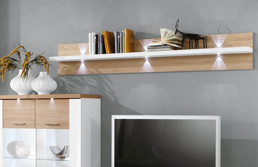 wohnwand manhattan 1b wei eiche von ideal m bel m bel letz ihr online shop. Black Bedroom Furniture Sets. Home Design Ideas