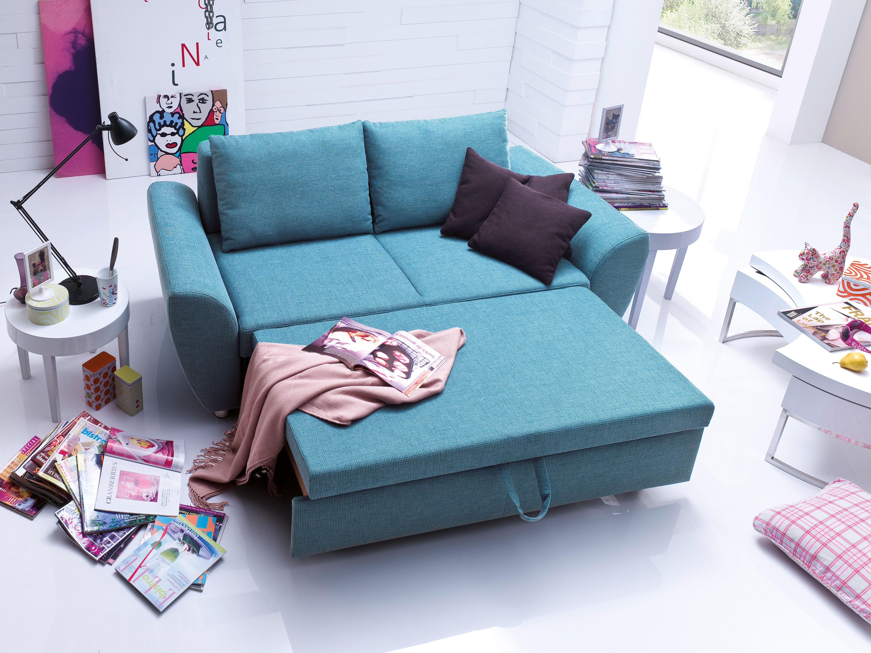 schlafsofa multiflexx in petrol von poco m bel letz. Black Bedroom Furniture Sets. Home Design Ideas