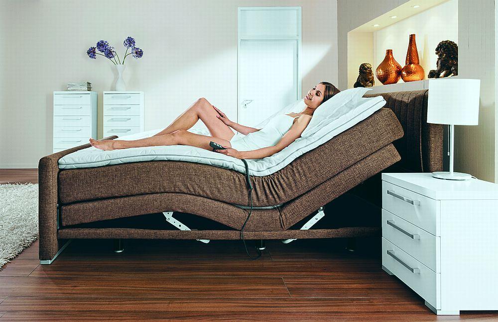 femira coutur boxspringbett mit motor braun m bel letz ihr online shop. Black Bedroom Furniture Sets. Home Design Ideas