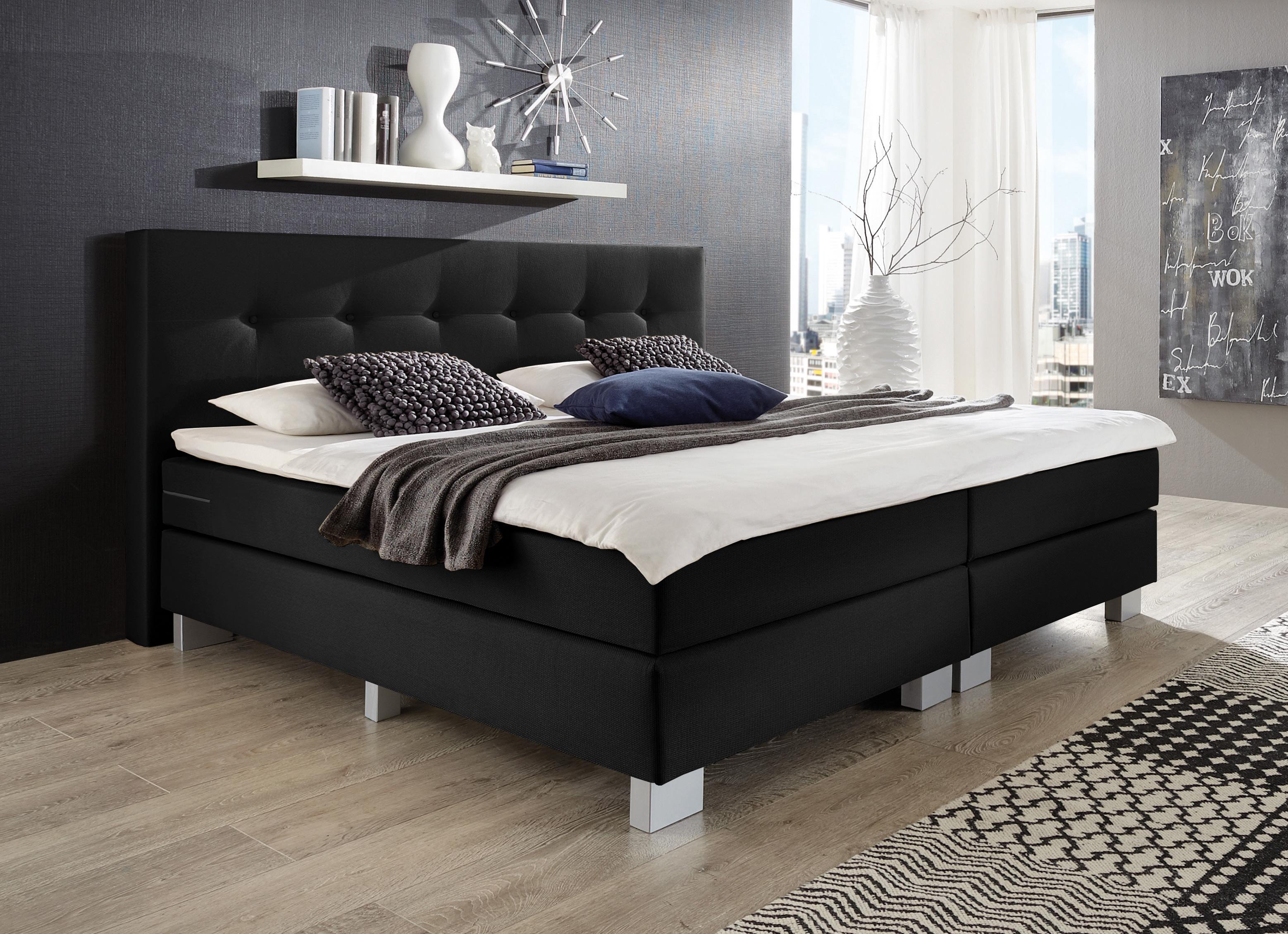 napco boxspringbett schwarz modell allround m bel letz ihr online shop. Black Bedroom Furniture Sets. Home Design Ideas