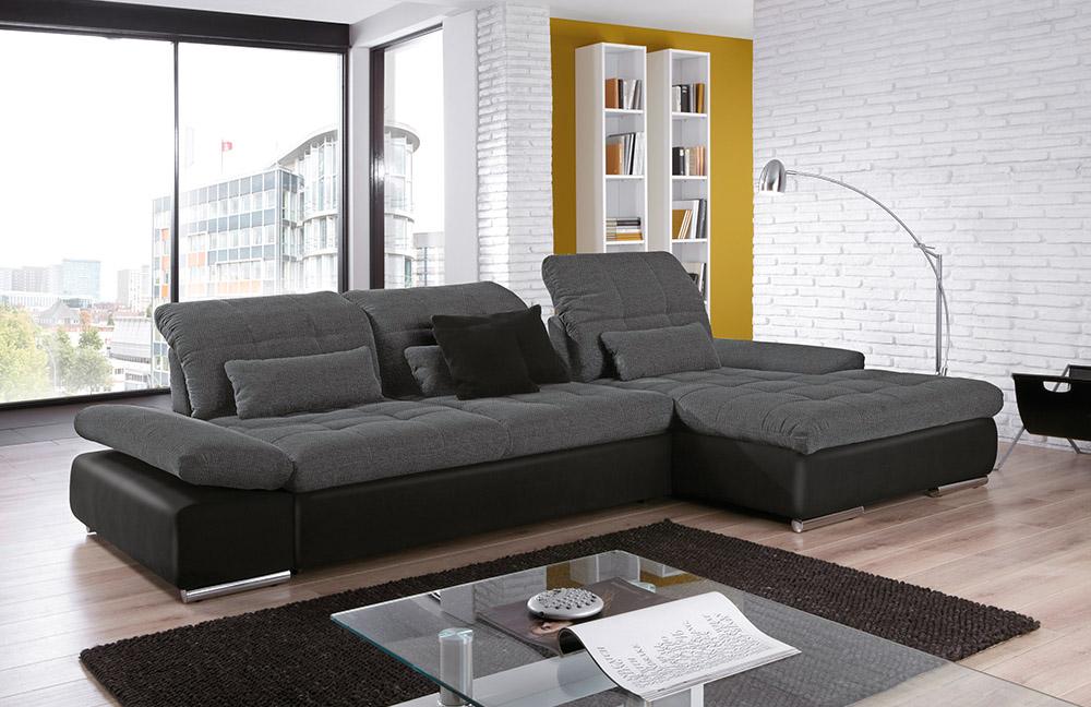 eckcouch santa fe in anthrazit schwarz von poco m bel. Black Bedroom Furniture Sets. Home Design Ideas