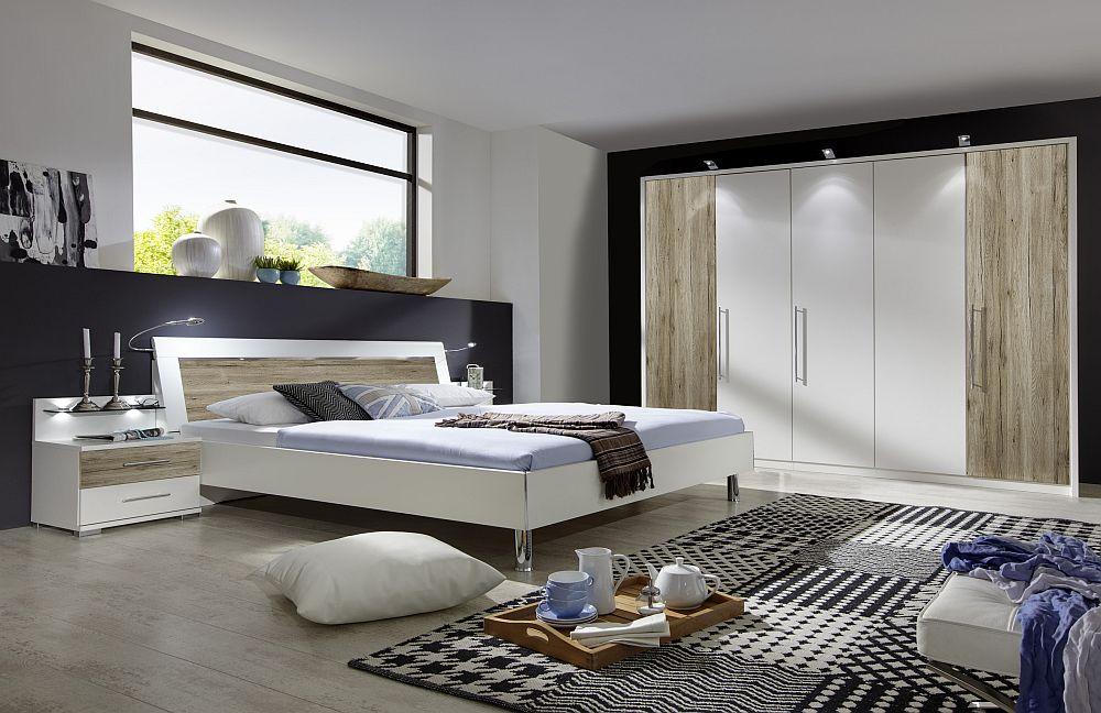 schlafzimmer sunny von wiemann wei santana eiche m bel. Black Bedroom Furniture Sets. Home Design Ideas