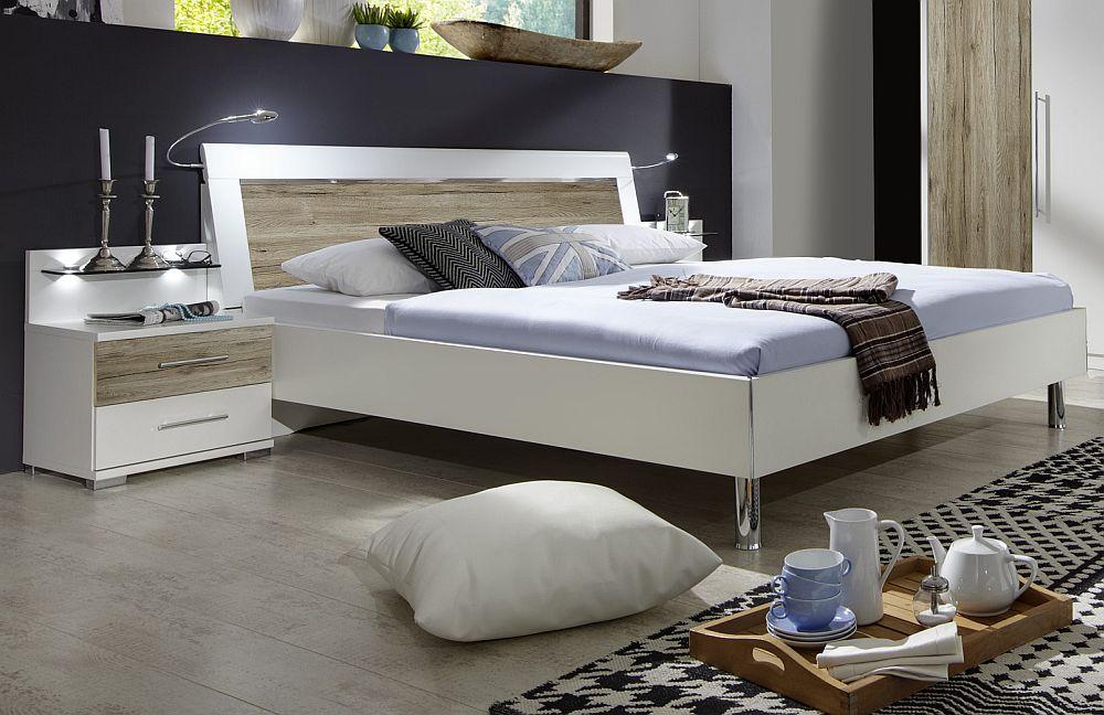 schlafzimmer sunny von wiemann wei santana eiche m bel letz ihr online shop. Black Bedroom Furniture Sets. Home Design Ideas