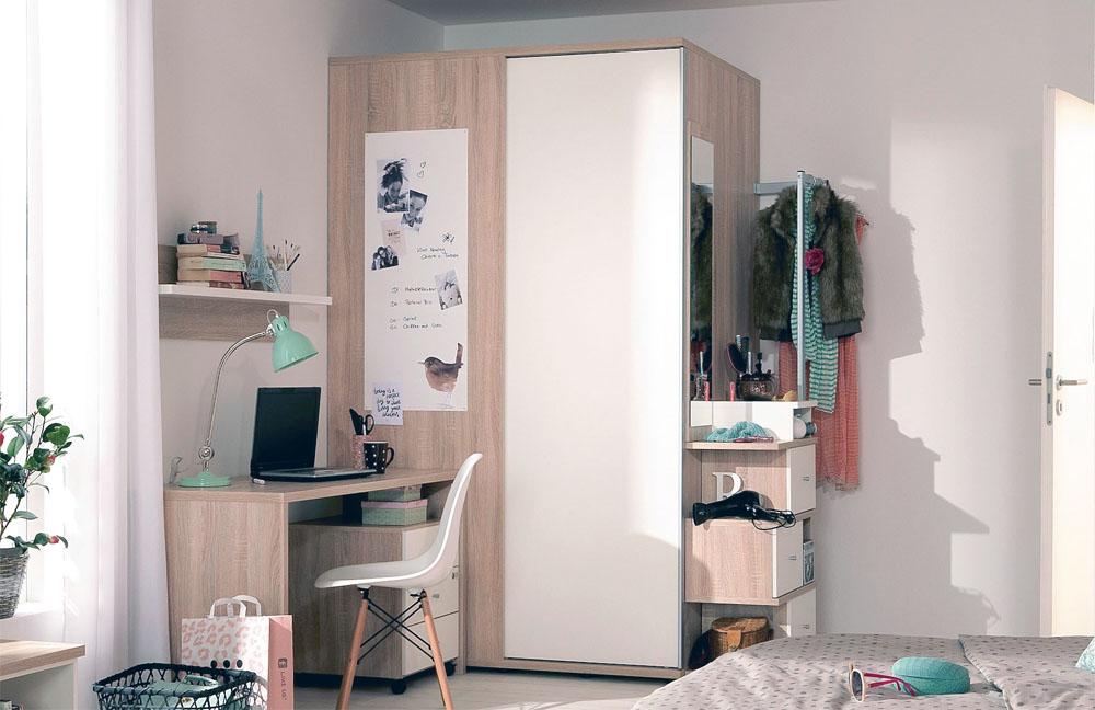 wellem bel teenio jugendzimmer wei wildeiche m bel letz. Black Bedroom Furniture Sets. Home Design Ideas