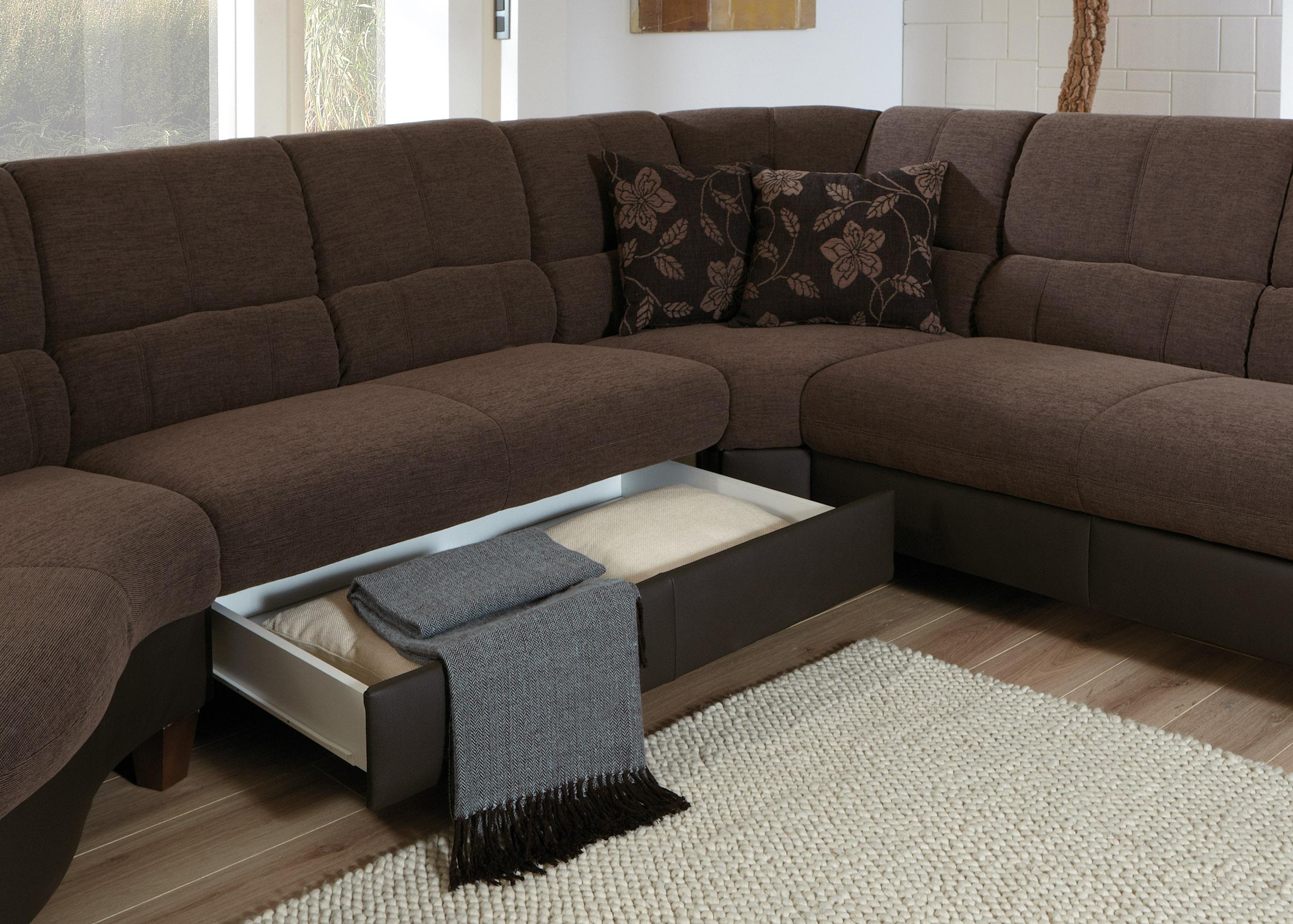 zehdenick farini s wohnlandschaft in braun m bel letz. Black Bedroom Furniture Sets. Home Design Ideas
