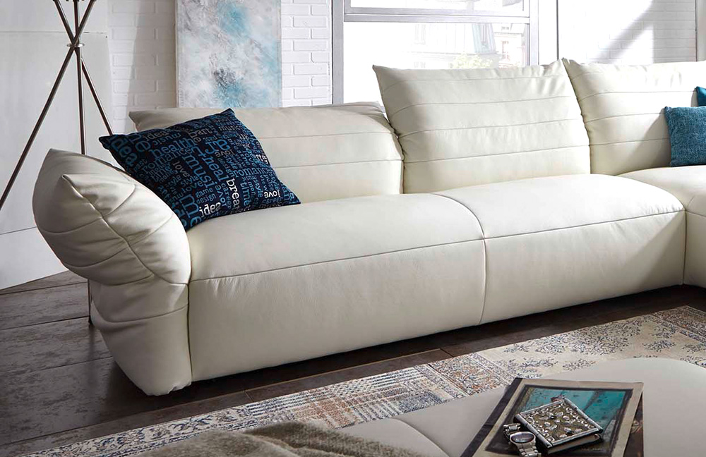 k w polsterm bel life 7096 ledercouch wei m bel letz ihr online shop. Black Bedroom Furniture Sets. Home Design Ideas
