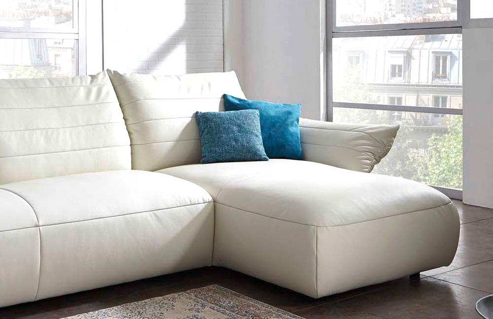 k w polsterm bel life 7096 ledercouch wei m bel letz. Black Bedroom Furniture Sets. Home Design Ideas