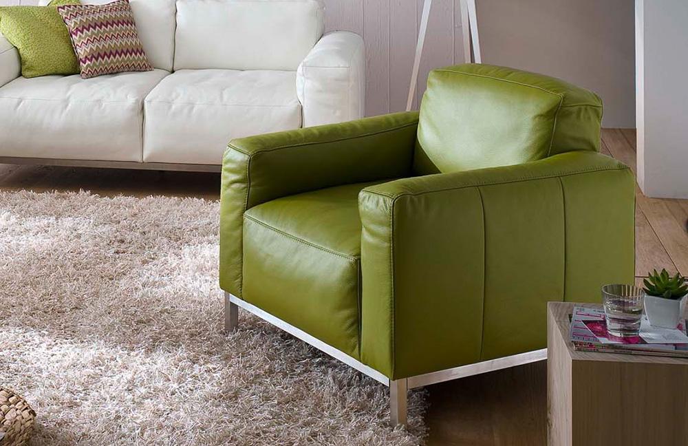 k w polsterm bel lounge ledercouch wei m bel letz ihr online shop. Black Bedroom Furniture Sets. Home Design Ideas