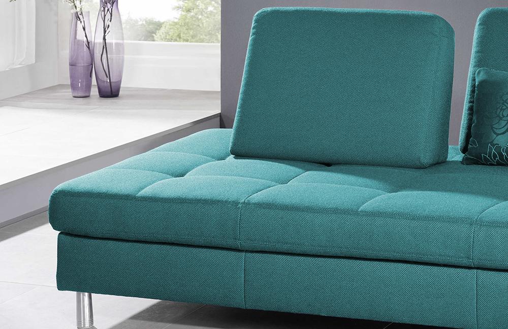 f s polsterm be 2117 vegas recamiere petrol m bel letz ihr online shop. Black Bedroom Furniture Sets. Home Design Ideas