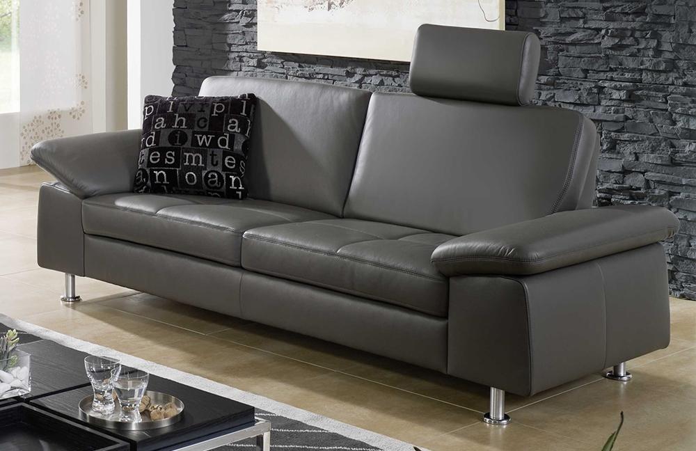 f s polsterm bel 2117 vegas ledergarnitur grau m bel. Black Bedroom Furniture Sets. Home Design Ideas