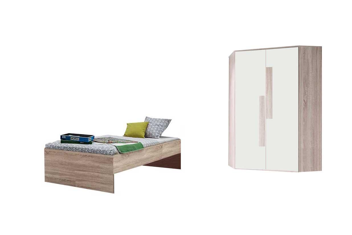 kinderzimmer shake von r hr bush in sonoma eiche wei. Black Bedroom Furniture Sets. Home Design Ideas