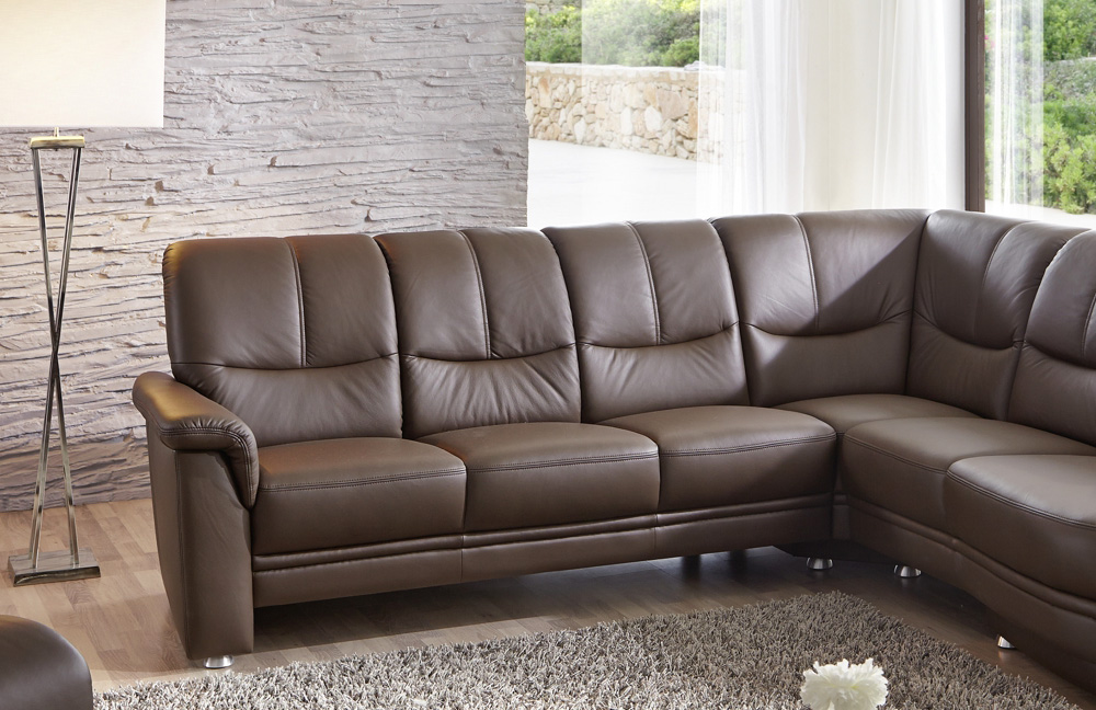 gruber echtledersofa hamburg in edlem braun m bel letz ihr online shop. Black Bedroom Furniture Sets. Home Design Ideas
