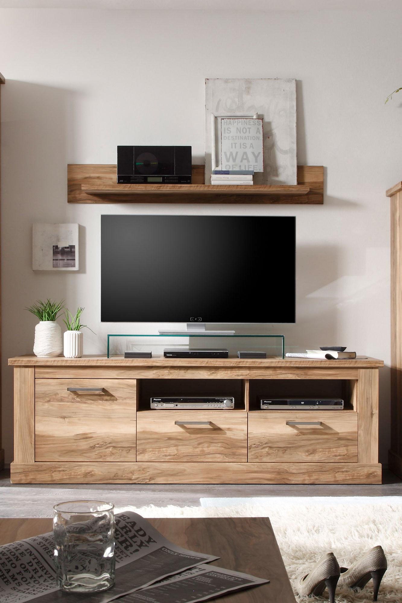 wohnwand montreal victoir iii nussbaum von trendteam m bel letz ihr online shop. Black Bedroom Furniture Sets. Home Design Ideas