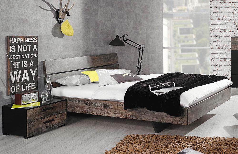 schlafzimmer sumatra von rauch select schwarz vintage. Black Bedroom Furniture Sets. Home Design Ideas