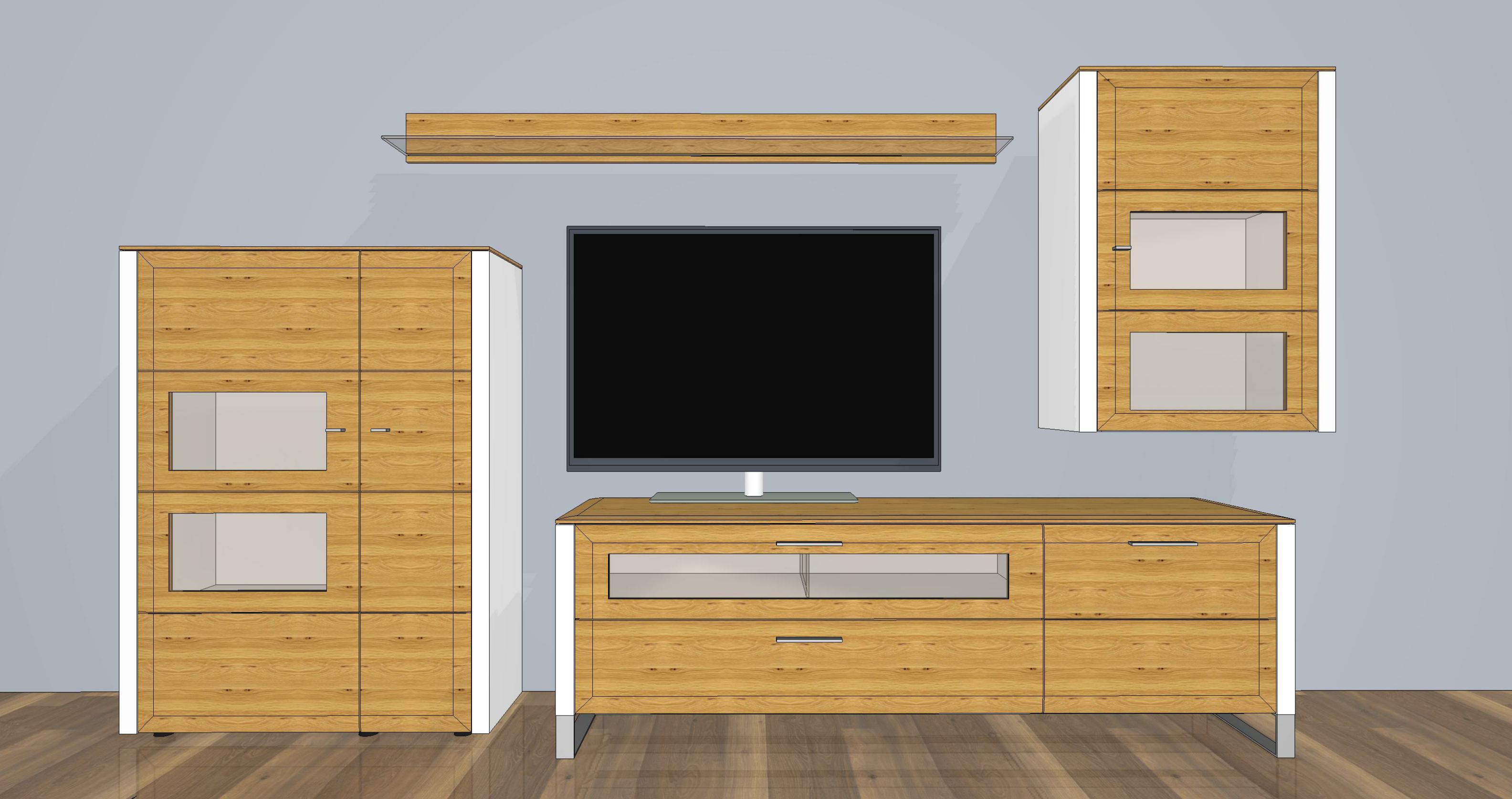 Wohnwand Solid Gorden SL5 Asteiche von Gwinner Wohndesign