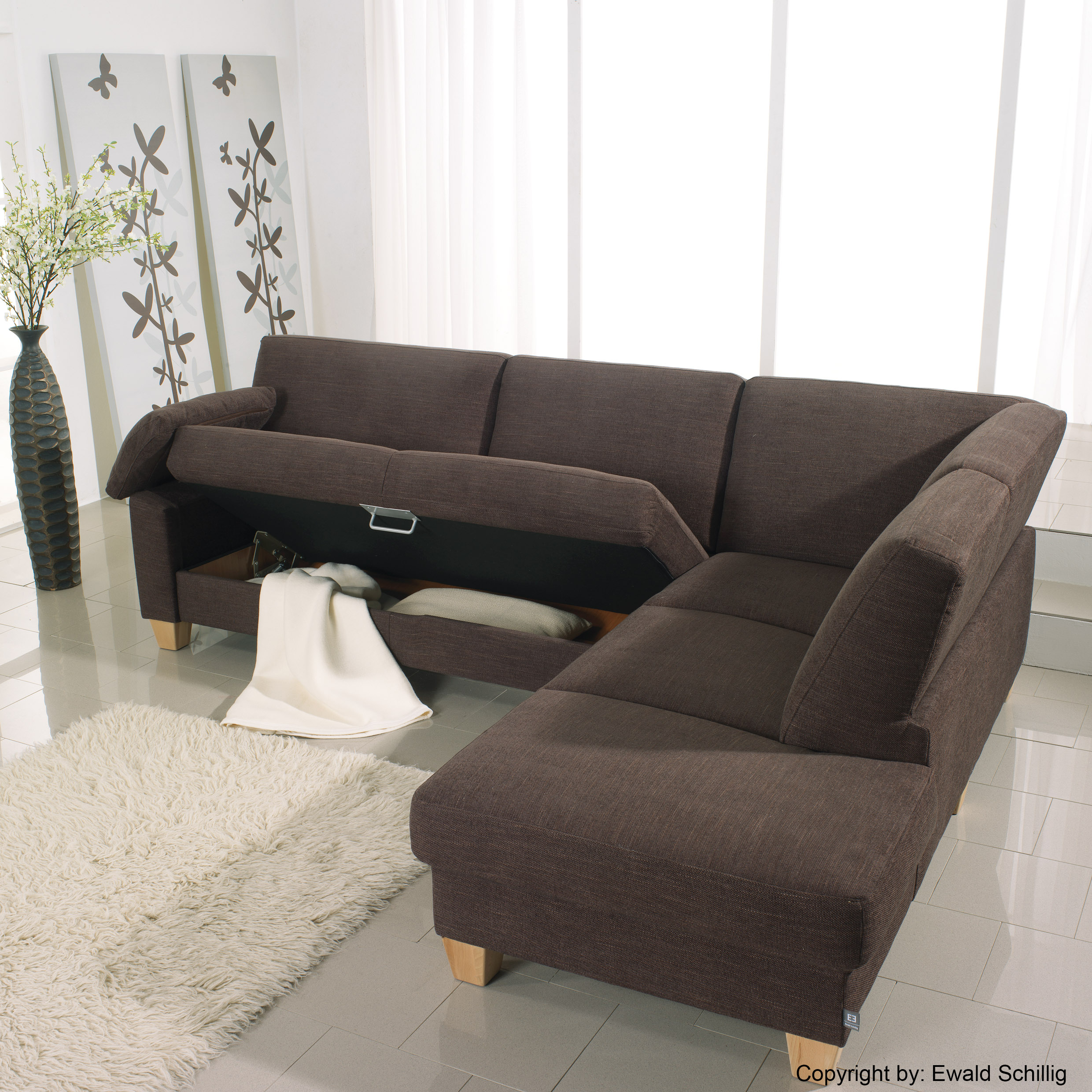 ewald schillig sofa florenz in braun m bel letz ihr online shop. Black Bedroom Furniture Sets. Home Design Ideas