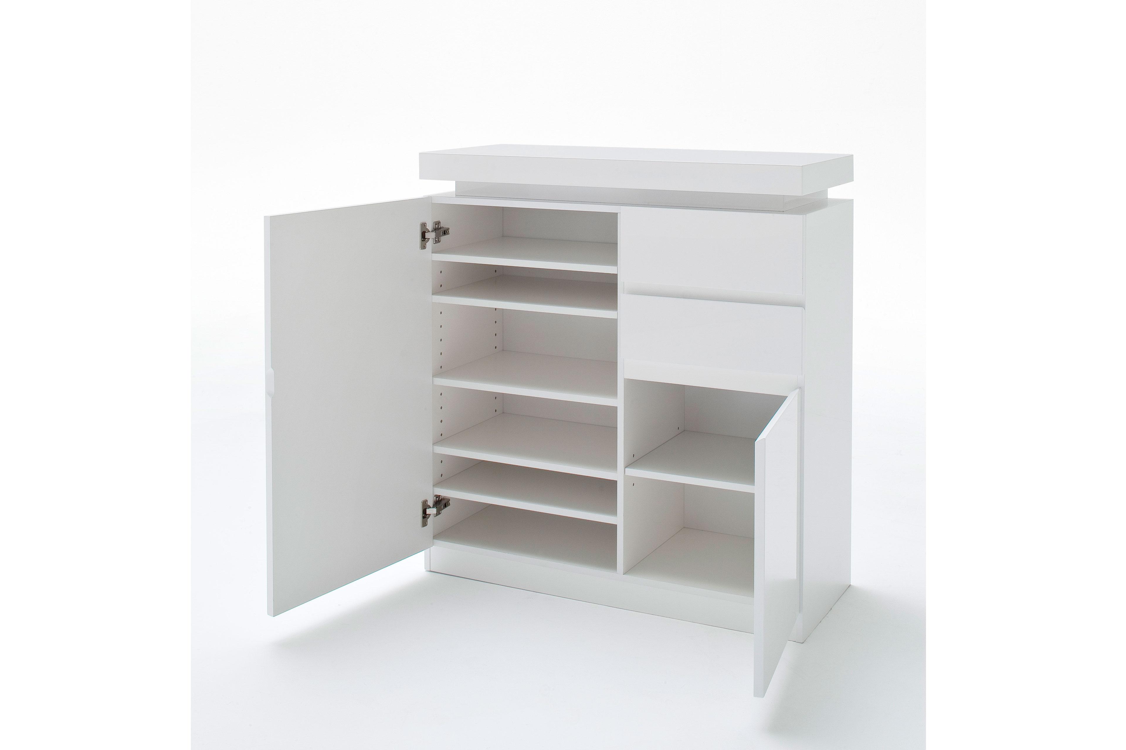 garderobe ocean jarid hochglanz lack wei mca furniture m bel letz ihr online shop. Black Bedroom Furniture Sets. Home Design Ideas
