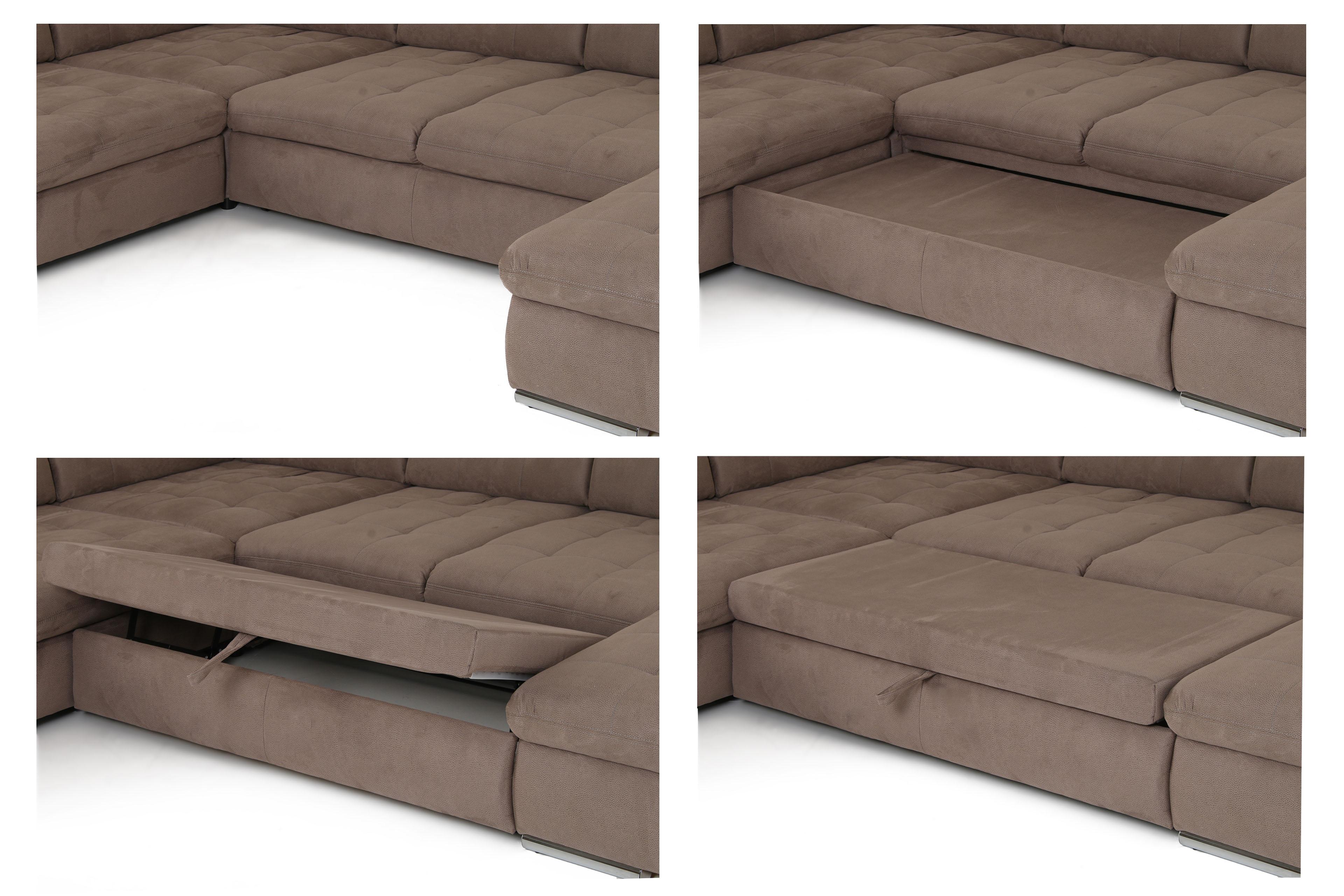 santa fe wohnlandschaft grau braun von poco m bel letz ihr online shop. Black Bedroom Furniture Sets. Home Design Ideas