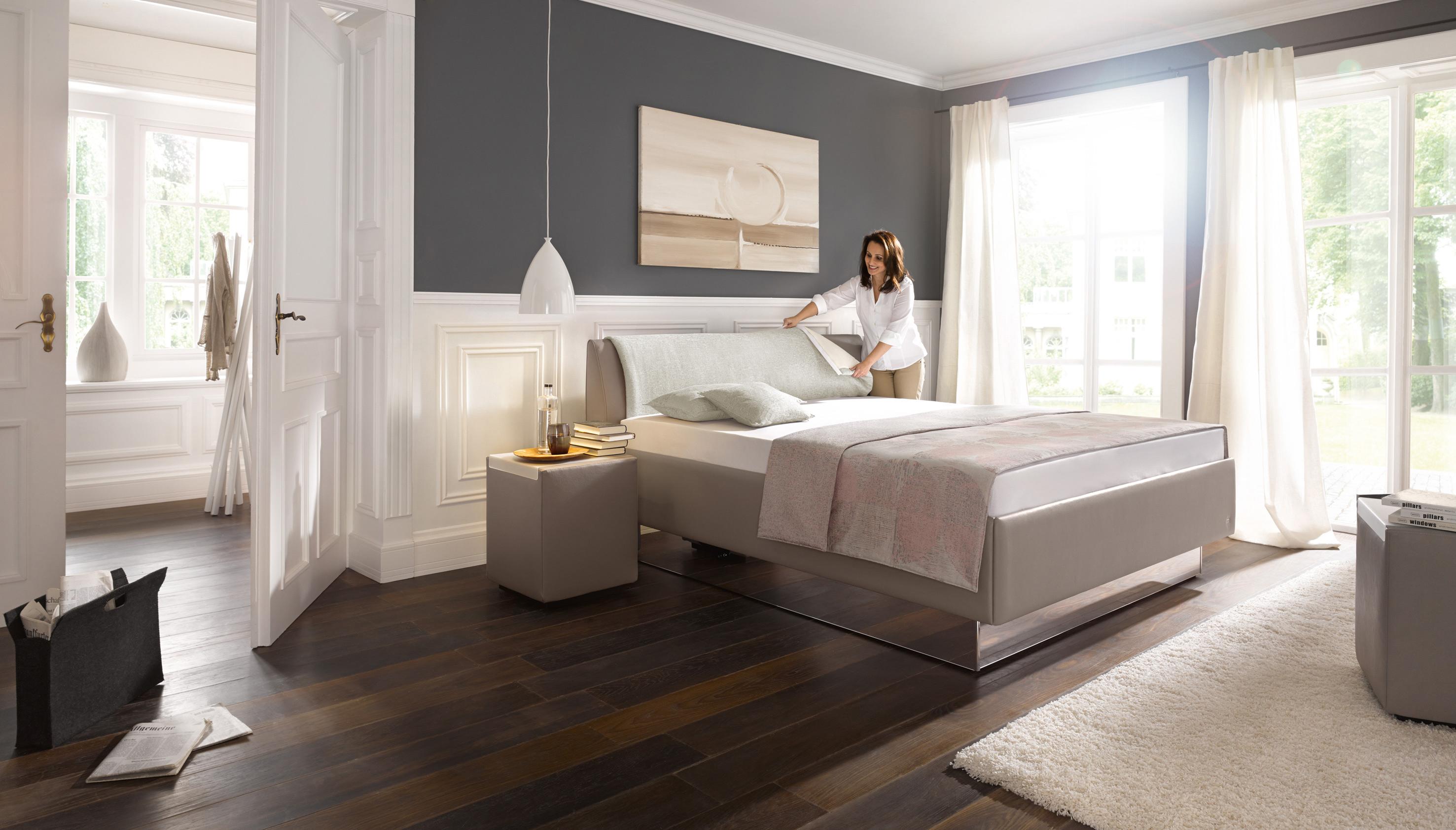 polsterbett composium von ruf betten in silber m bel letz. Black Bedroom Furniture Sets. Home Design Ideas