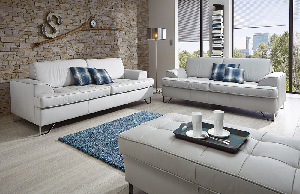 polstergarnitur lecce in hellgrau von poco m bel letz. Black Bedroom Furniture Sets. Home Design Ideas