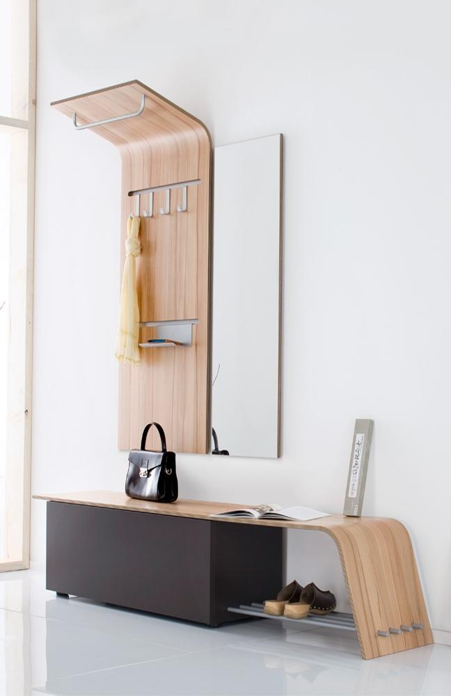 garderobe elli in kernbuche glattlack mocca von sudbrock m bel letz ihr online shop. Black Bedroom Furniture Sets. Home Design Ideas