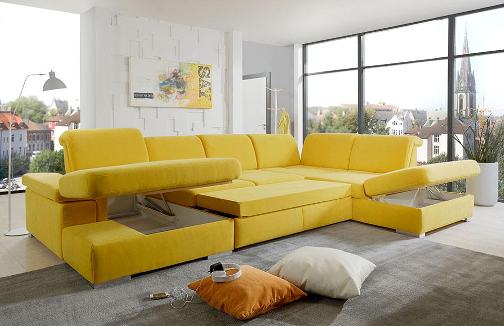 san marino wohnlandschaft gelb von poco m bel letz ihr online shop. Black Bedroom Furniture Sets. Home Design Ideas