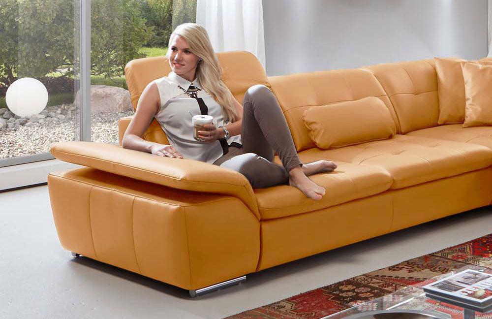 imago l von polinova ledersofa curry m bel letz ihr online shop. Black Bedroom Furniture Sets. Home Design Ideas