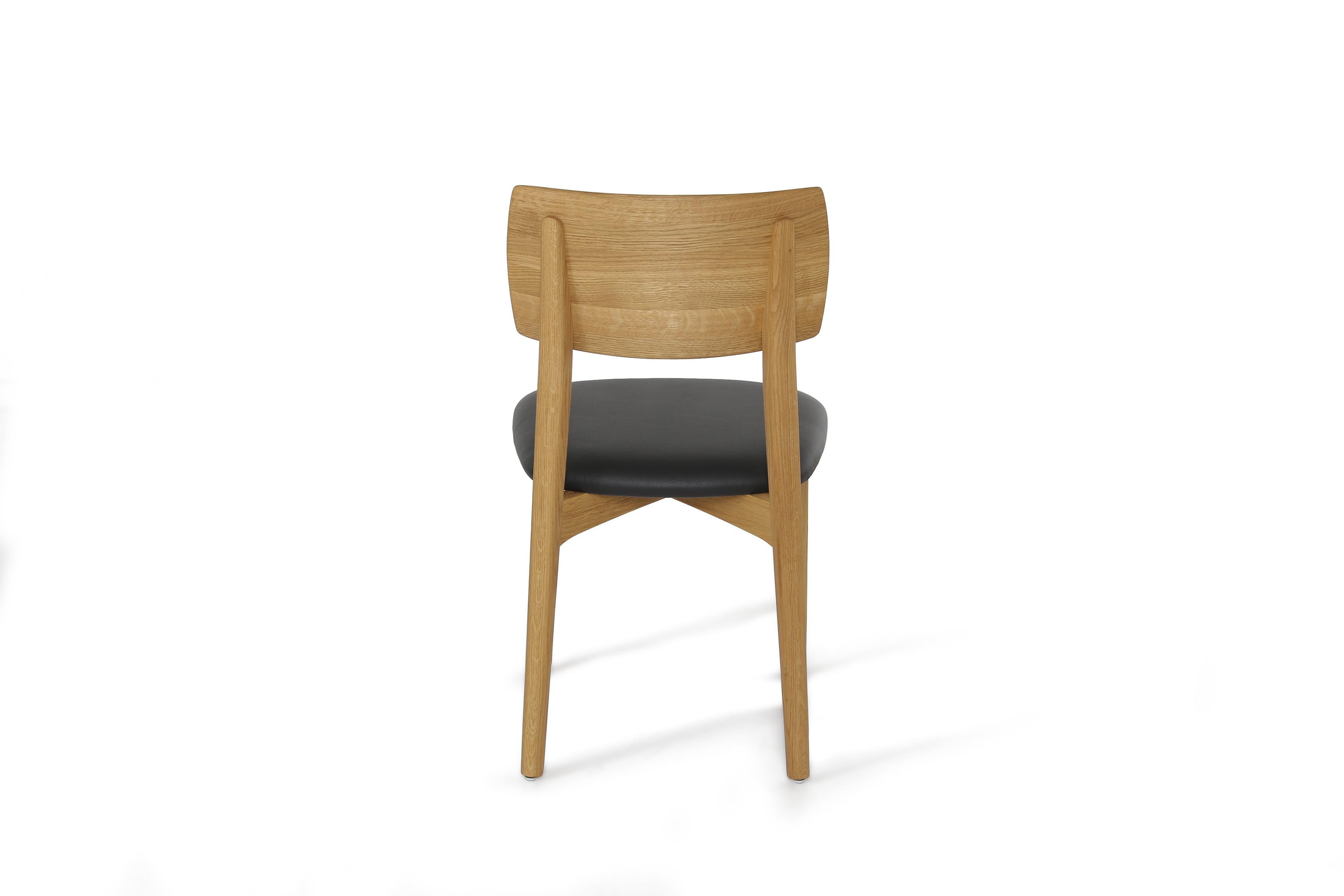 esszimmer s kultur wildeiche leder schwarz von w stmann. Black Bedroom Furniture Sets. Home Design Ideas