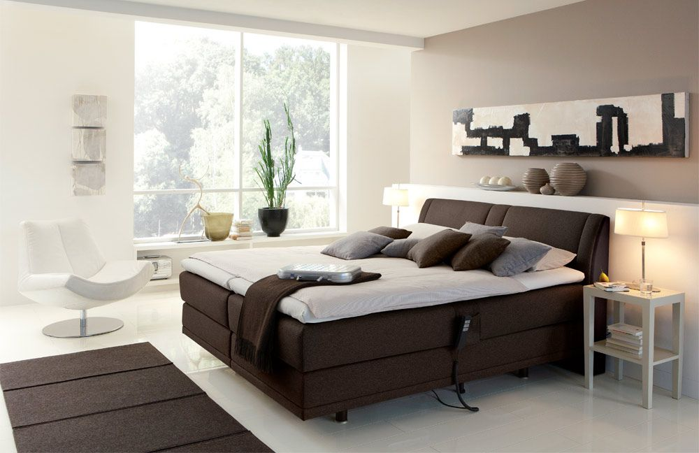 boxspringbett mit motor femira couture braun m bel letz ihr online shop. Black Bedroom Furniture Sets. Home Design Ideas