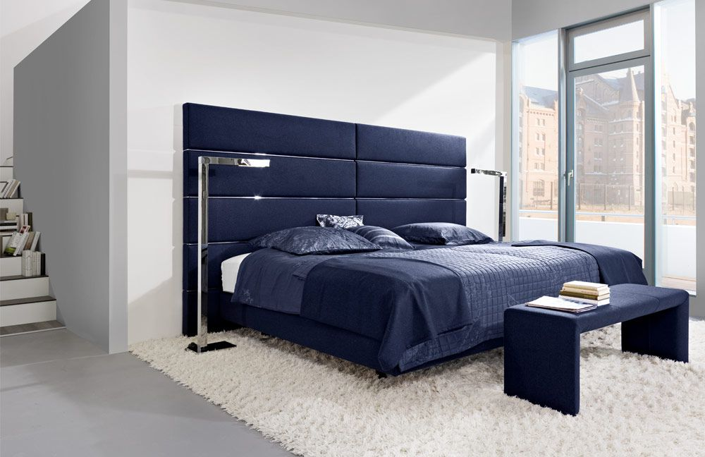 boxspringbett femira modell couture blau m bel letz. Black Bedroom Furniture Sets. Home Design Ideas