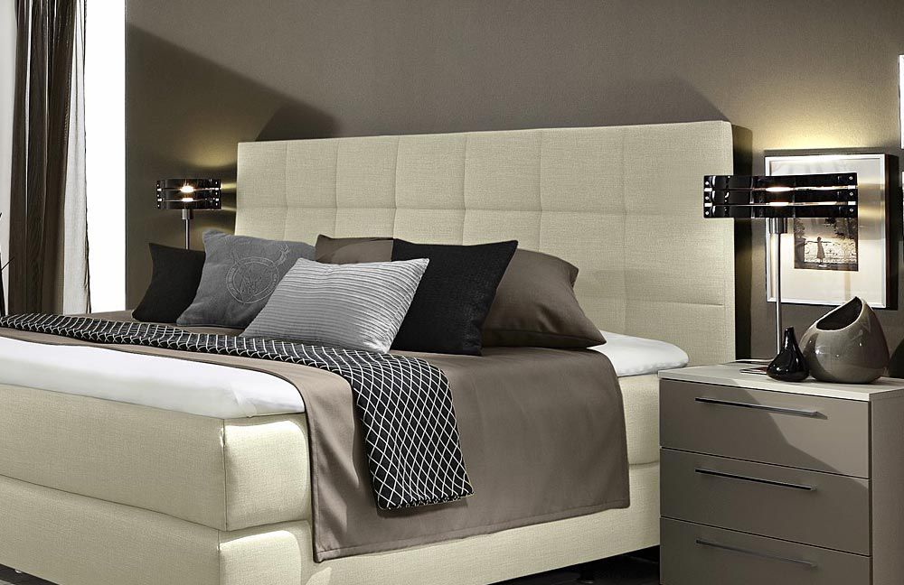 boxspringbett couture von femira in beige m bel letz ihr online shop. Black Bedroom Furniture Sets. Home Design Ideas