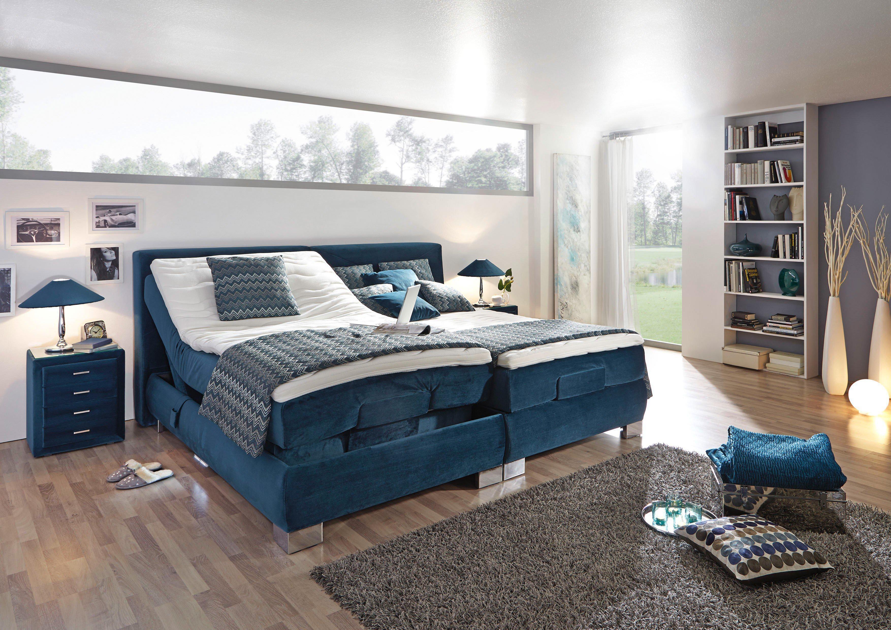 boxspringbett xl motor prestige von oschmann in blau m bel letz ihr online shop. Black Bedroom Furniture Sets. Home Design Ideas